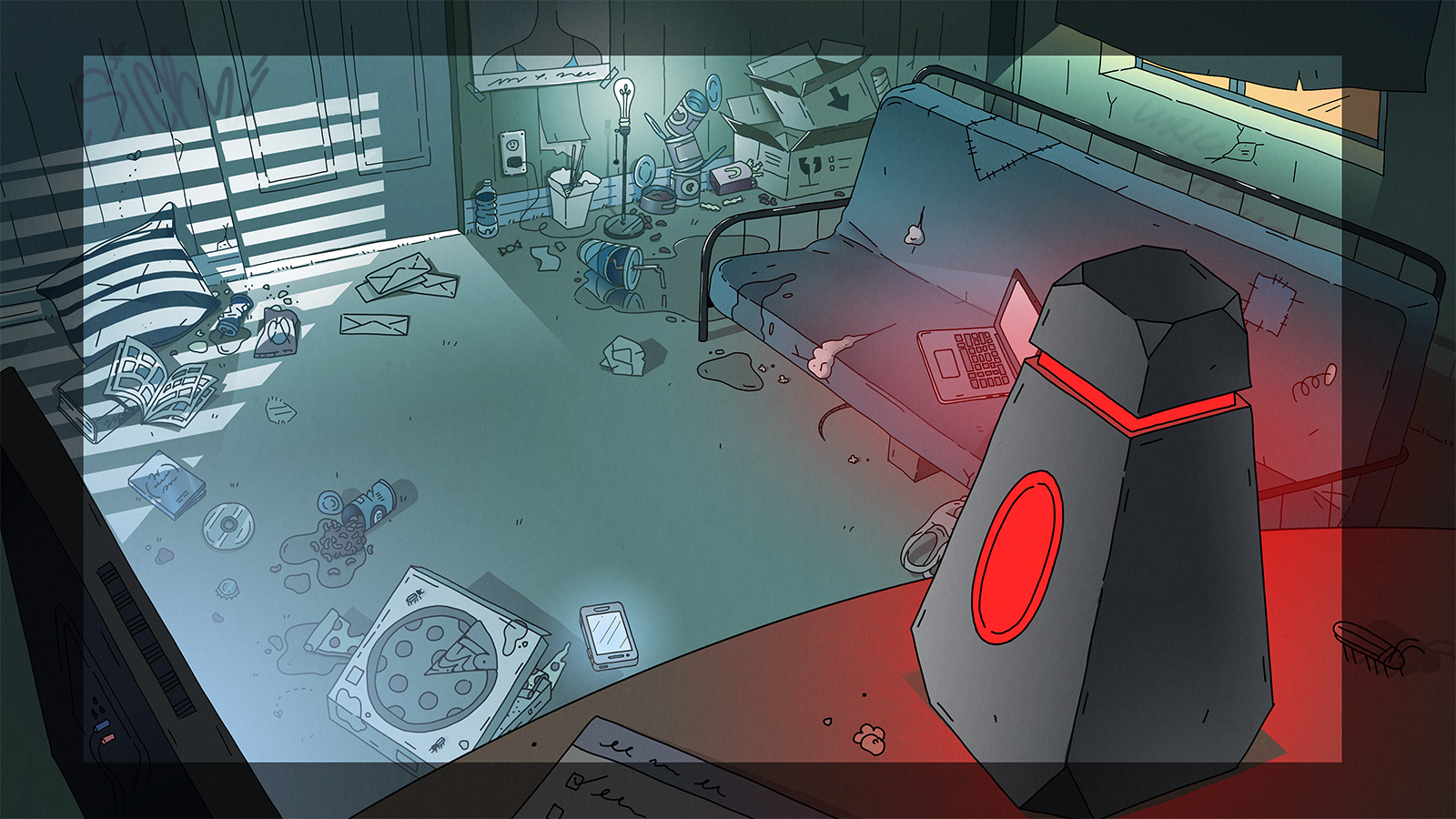 Background of Kidney's apartment