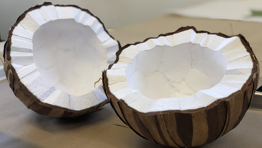 ...of paper coconuts.