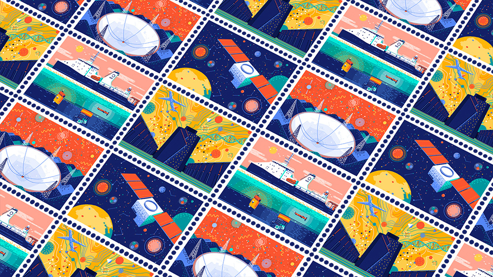 China Post Office Stamps