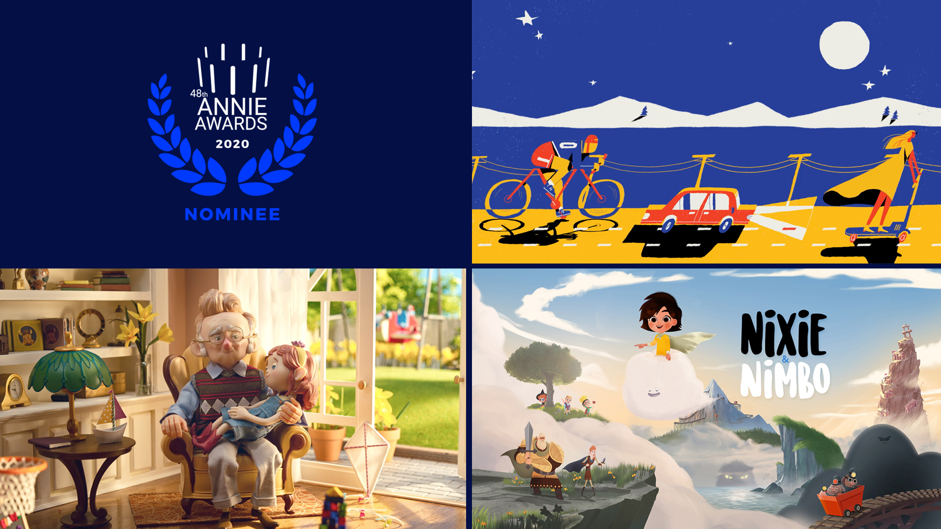 Trifecta of Nominations at 48th Annual Annie Awards