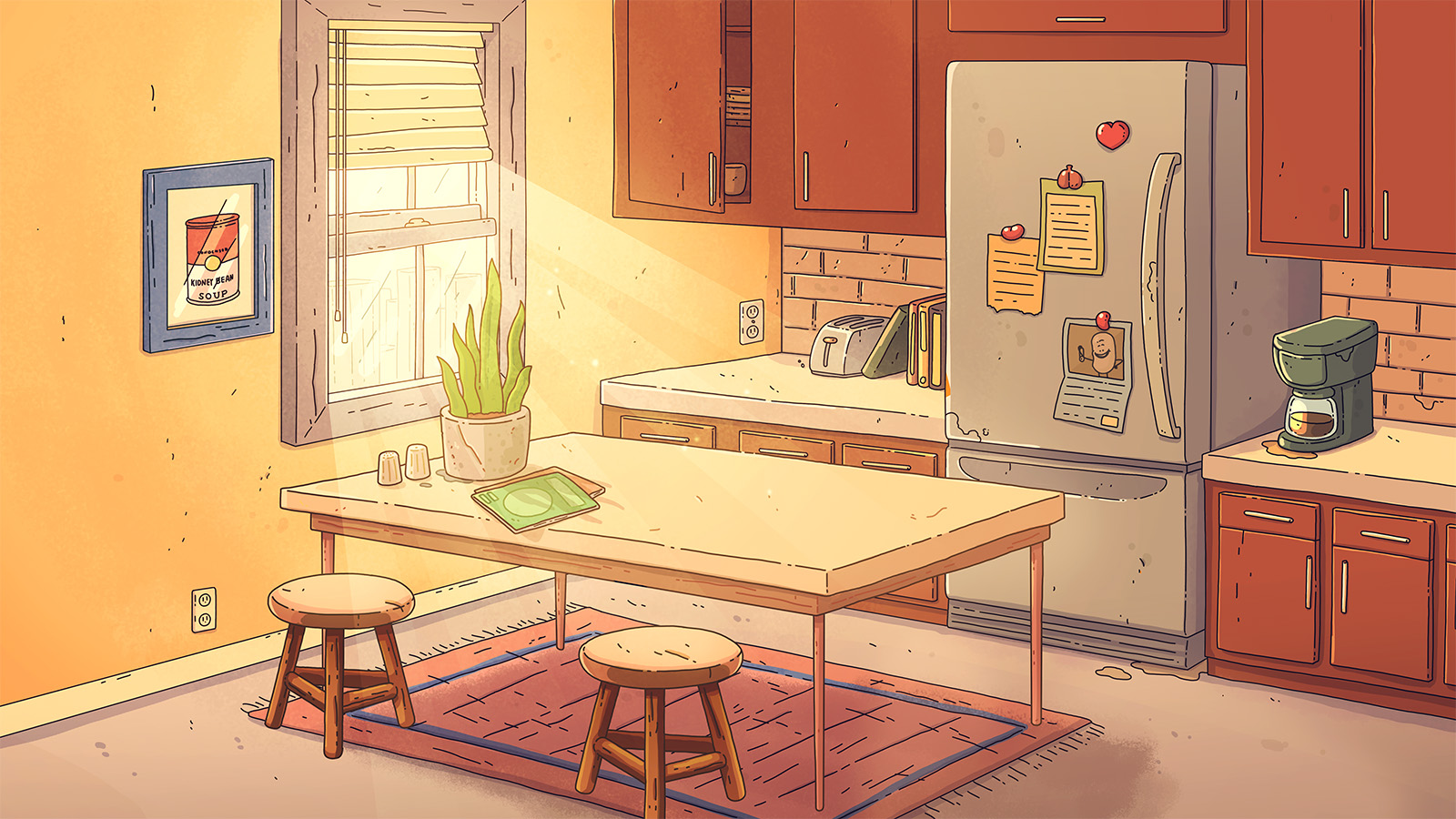 Kidney's Background of Kitchen