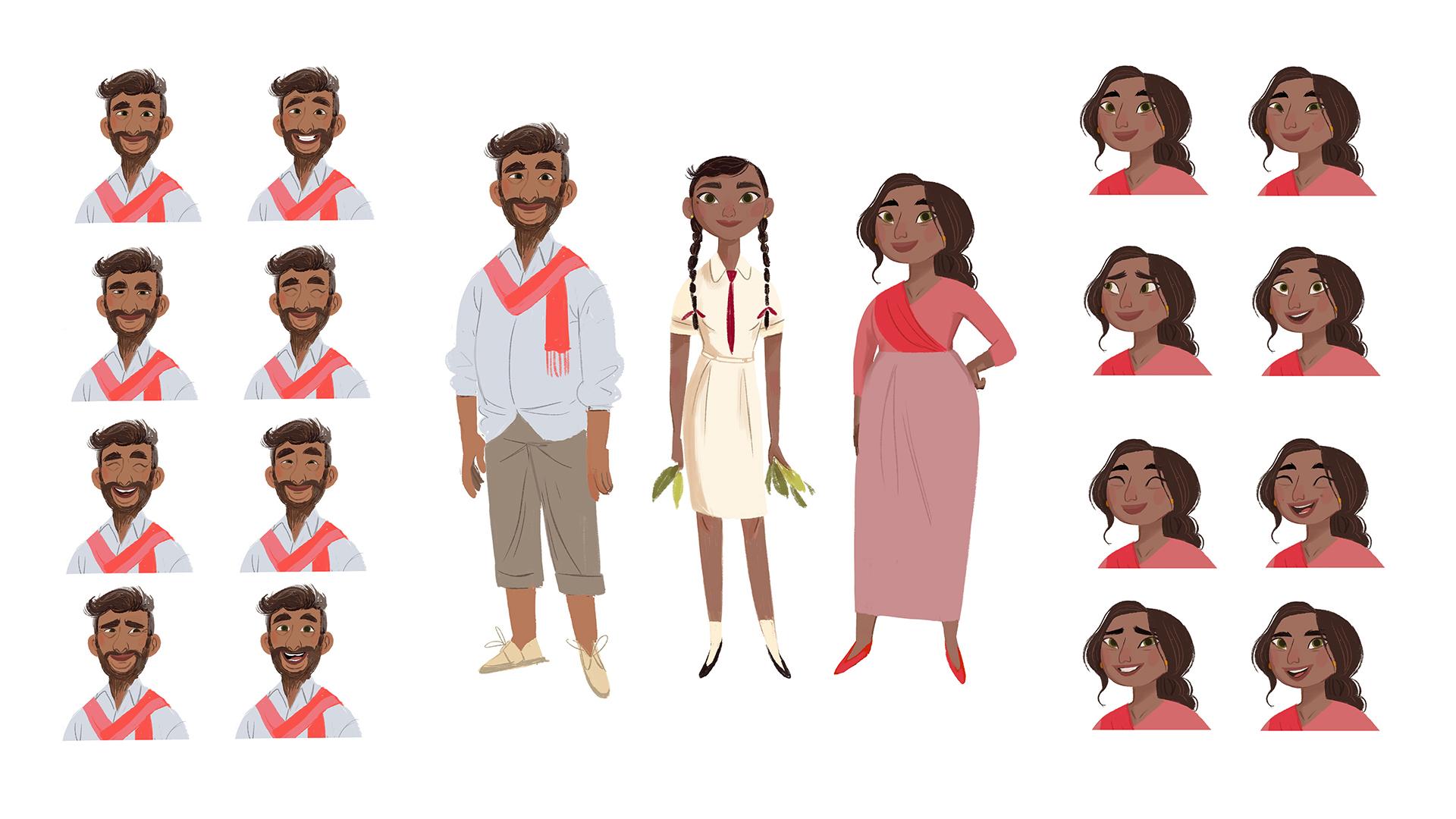 Gogo Tea: Character Expressions