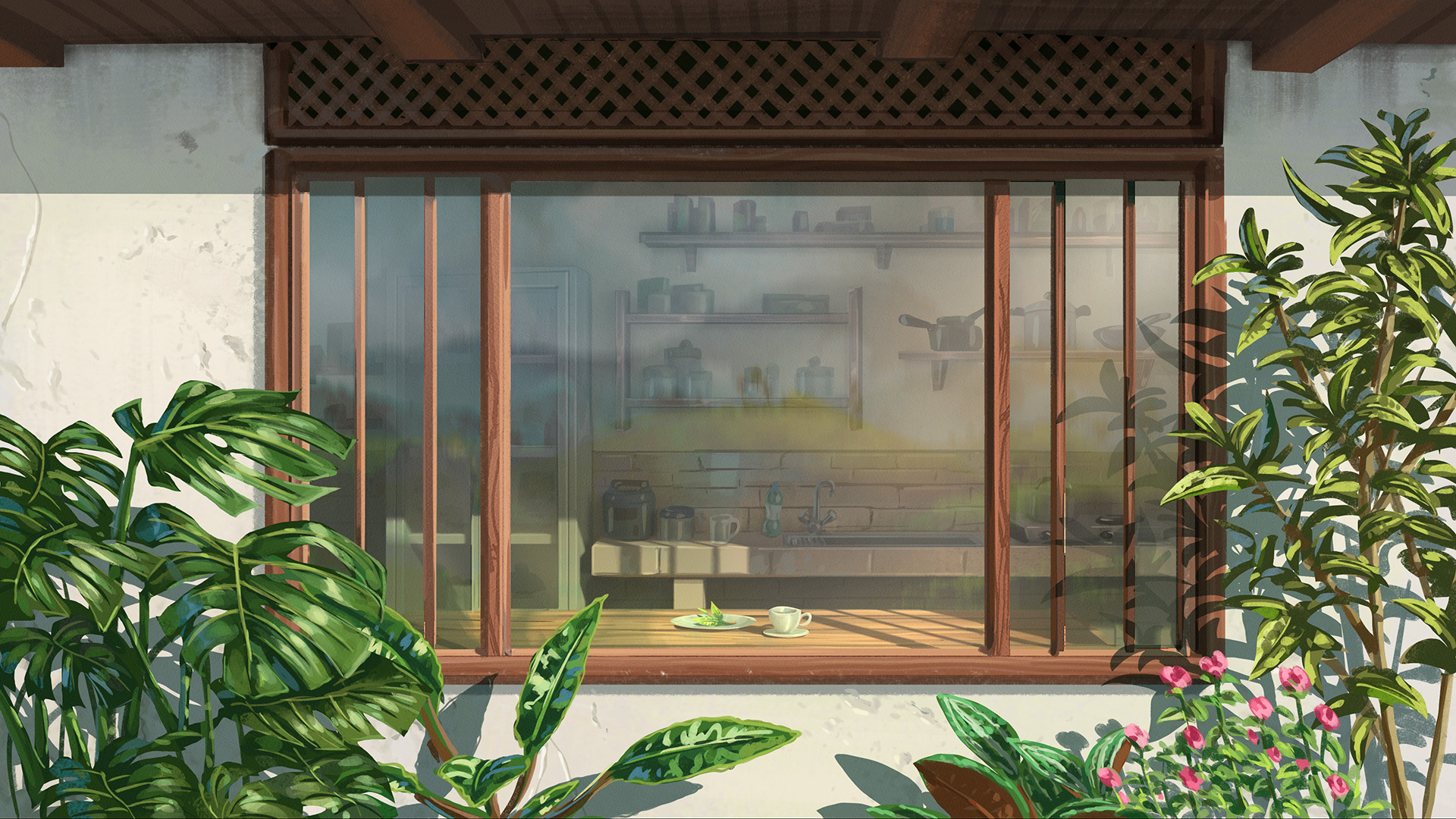 Gogo Tea: Kitchen Background