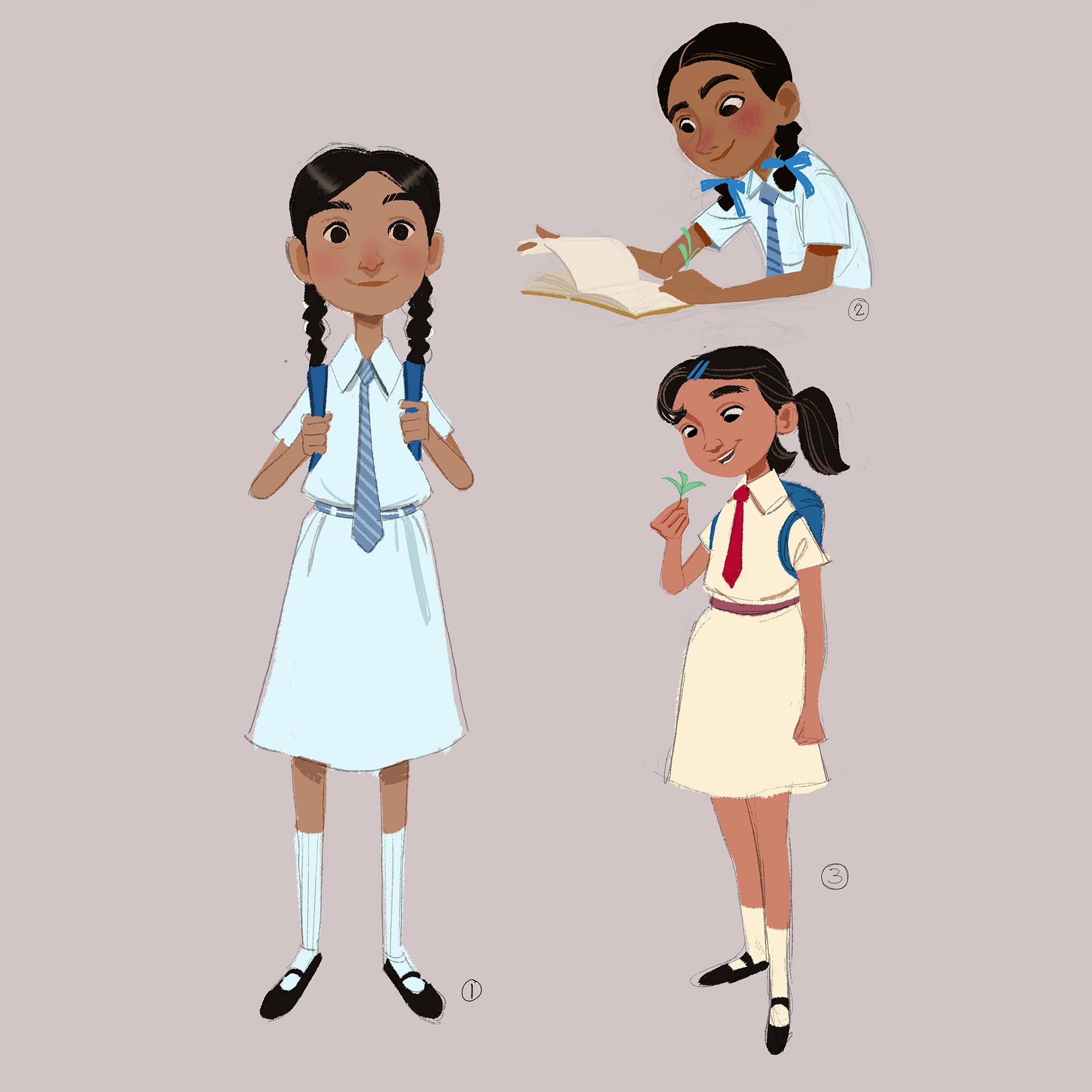 sketch girl character design v01